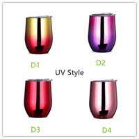 New 35 Kinds 9oz stainless steel cups UV Style tumbler Color...