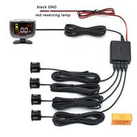 자동차 오토 파크 트로닉스 LCD 주차 센서 4pcs 22mm 센서 리버스 백업 자동차 주차 레이더 감지기 시스템 LCD 디스플레이