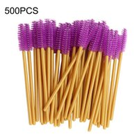 500pcs Disposable Micro Eyelash Brushes Mascara Applicator W...