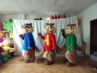 2019 Lovelyfunny yumuşak peluş sincaplar maskot kostümleri çocuklar için parti, satılık Alvin sincap maskot kostümleri