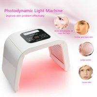 4 لون أوميغا ضوء الصمام الفوتون آلة العلاج الوجه الصمام قناع PDT ضوء للجلد تجديد حب الشباب إزالة الصوت SAMON