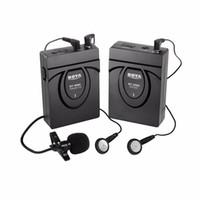 Freeshipping المهنية اللاسلكية lavalier التلبيب نظام الميكروفون ل dslr كاميرا فيديو كاميرات تسجيل الصوت لكانون