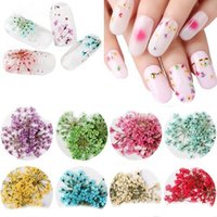 12Color Nail Flowers Dazzling Tips Nail Sticker Sequins Colo...