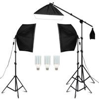 التصوير الفوتوغرافي Softbox 50x70cm ستوديو إضاءة عدة الذراع للفيديو يوتيوب الإضاءة المستمر الإضاءة المهنية مجموعة استوديو الصور