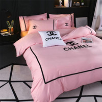 Fashion Letter Embroidery Bedding Supplies Popular Logo Euro...