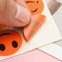 Factory Dropshipping (1 Set = 6 Stks) Anti Mosquito Sticker Patch Citronella Mosquito Killer Katoen Glimlachend Gezicht Mosquito Repellent R0602