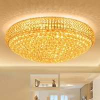 LED crystal chandeliers noble  gold high class K9 crystal ch...