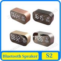 AS2 parleur sans fil Bluetooth LED Affichage numérique Réveil subwoofer stéréo haut-parleur de soutien FM Radio / AUX-in / TF Mirror Card