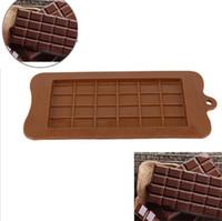 24 Grille de bricolage carrés moules de blocs dessert silicone Moule à chocolat Bar Ice Block gâteau en silicone Bonbons Sucre cuisson Moules