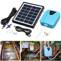 2L / Min Silent Solar Solar Oxygénatrice de l'oxygénateur Mini Aquarium Air Pompe à air Piscine Réservoir de poisson Oxygène Air Compressor Aérateur Débit d'air