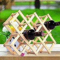 Tablas de vino de mesa de madera Rack de madera roja 3/6/10 Montaje de botella Titular de la cocina Organizador de exhibición
