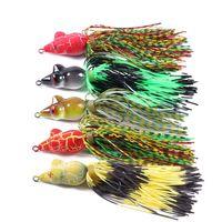Новый Topwater Ray реалистичная лягушка Рыбалка искусственные приманки крючки 9 см 7 Г 5 цветов мягкая резиновая приманка бас