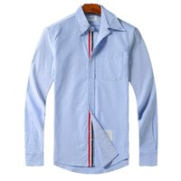 Fashion- shirts browne TB classic double sleeve Tri Color Rib...