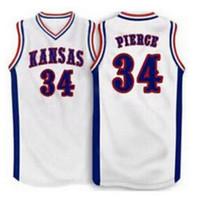 mulheres costume Homens Jovens Vintage # 34 Paul Pierce Kansas Jayhawks Basketball Jersey Tamanho S-4XL ou personalizado qualquer nome ou número de jersey