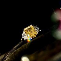 Fashion-Spring 2020 Luksusowy Projektant Luksusowy Gold Pierścień S925 Pure Posrebrzane 18k Gold Pierścionek do ślubu Luksusowa para