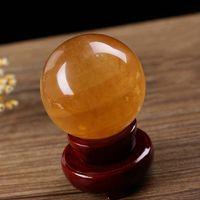 İyi Servet Topları Doğal Topaz Topu İletim Boncuk İzlandalı Taş Crystal Ball tutucu yok Ev Mobilya Dekorasyon 20hy4 k1