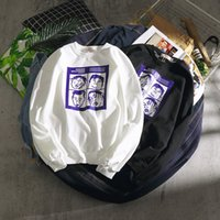 mens designer hoodies Hip-hop Trend T-shirt Boys Autumn Dress Japanese Hiphop Loose Long Sleeve Top Size WGWY185