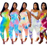 Sexy рукавов Backless комбинезон Комбинезон печати платье без рукавов 2020 Популярные платье горячих продавая женщин Мода Стиль