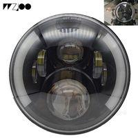 Faro de motocicleta LED de 7 pulgadas H4 H4 H13 para con luces DRL de Ojo de Ángel Halo para Softail Dyna Sportster