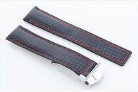 Estilo de moda, correa de cuero automático de gama alta y generosa en lugar de correa de marca, accesorios de reloj mate 22 mm