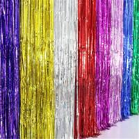 Shinny Püsküller Şerit Perde Dekorasyon Renkli Düğün Doğum Günü Arka Plan Duvar Düzeni Püskül Parti Dekor