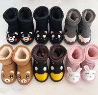 Bottes de neige d'hiver Enfants Classic Australie Ug Boys Girls Véritable Cuir En Cuir Feule Botte Botte Baby Outwear White Epaisses Chaussures d'hiver Taille24-34
