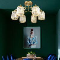 Kristal lamba oturma odası lamba dairesel tavan lambası Modern sözleşmeli yemek odası avize avrupa tarzı yatak odası ışık lüks lambası