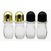 30ml 50ml Klarglas Ätherisches Öl Roller-Flasche mit Glas-Rollen-Kugel für Parfüm Aromatherapie Roll On Bottle HHA-278