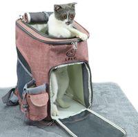 Plegable y transpirable gato mochila perro, multifuncional puede llevar a los gatos domésticos de mochila de viaje