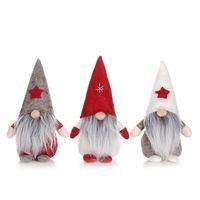 Wesołych Świąt Gwiazda Kapelusz Szwedzki Santa Gnome Pluszowe Lalki Ozdoby stołowe Handmade Elf Faszerowany Zabawki Domowe Dom Party Decor jk1910