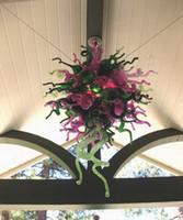 Lampadario moderno in cristallo Foyer Decorazione per interni Illuminazione Art Design Decorazione Lampadario in vetro di Murano soffiato a mano stile Chihuly