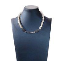 INS EL MISMO DUNZI GAKER STRONSLACES DE AJUSTE DE AJUSTE MARIBUCIDAD MINORIA Cadena de perlas Concatenación Temperamento Bundy Collar corto