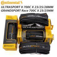 Continental Ultra Sport II Sport Race 700 * 23 / 25c 28c Road Bike Bike Neumático Bicicletas plegables Neumáticos Bicicletas Original Grand Sport Race