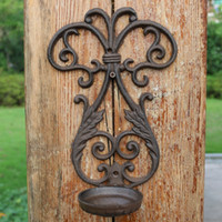 2 Pieces Candle Holder Wall Mounted Sconce Cast Iron Candle ...
