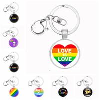 سلسلة المثليين الكبرياء مثليه هدية قلادة سلسلة المفاتيح قوس قزح المثليين مفتاح كيرينغ مفتاح الدائري Chaveiro هدية تذكارية Llaveros مجوهرات