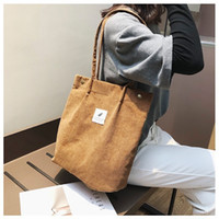 2019 New Fashion High Quality Women Corduroy Tote Ladies Cas...
