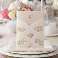 Invitations de mariage rouges chérie avec courroie de paillettes et tag Glitter Boîte de poche Bridal Bridal Douche Carte d'invitation
