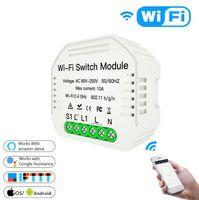 WiFi смарт-переключатель света Сделай сам автоматический выключатель модуль умной жизни/туя приложение дистанционного управления,работает с Алексой Эхо Гугл дом 1/2 пути