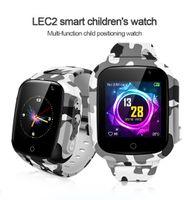 Bambini intelligente orologio GPS LEC2 Posizionamento Guarda Anti Lost Children regalo IP67 intelligente Bracciale impermeabile intelligente band di supporto Sos chiamata Voice Call