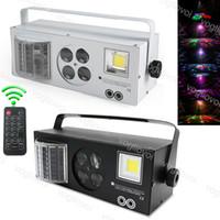 Laserverlichting 60W 4 in 1 Flash Gobo Strobe Butterfly Patronen DMX512 DJ Equipment Stage Llight Four Functions Lighting Effect DHL