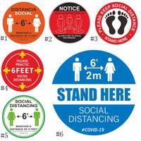 PVC de piso etiqueta cinta de marcar mantener su distancia de 6 pies de señalización en el suelo Social Distancia Etiqueta EEA1776