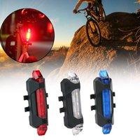 Fabriksuttag Cykellampa LED Baklykta Baksäkerhetsvarning Cykling Ljus Portabel USB Uppladdningsbar Cykling Ljus Bike Tillbehör