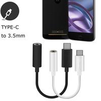 Tipo-C a Standard 3.5mm Giacca audio femminile Tipo di tipo C Adattatori per Samsung Galaxy S8 HTC LG G5 ecc. Telefono cellulare