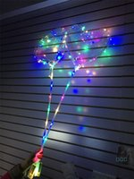2019 LED-Liebe Herz bobo Ball Valentinstag Geschenke LED-Leucht-leuchten Ballon Transparente Luftballon für Hochzeit nach Hause Dekoration