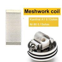 Meshwork Bobine 0.13ohm Ni80 Kanthal A1 Mesh Coil FIT Mesh Atomiseur DIY Fit Vaporizer Kylin M RTA etc.