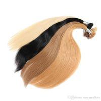 أنا ملحقات تلميح الشعر الإنسان مستقيم كيراتين مقلوب الشعر الانصهار الشعر اللون أسعار الجملة 300G 300strands