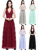 En existencias de plata de encaje vestidos de baile A-line Vestido de noche 100% verdadero de los cuadros del partido formal largo Madre de los vestidos de la novia CPS165