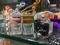 Mode Auto Auto Parfüm ätherisches Öl Parfüm leere Flaschen Originalform Quadratischer Auto Lufterfrischer Hang Seil Anhänger Diffusor Flaschen