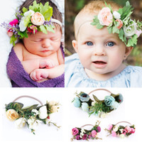 Bohemia Headbands Artificial Flowers Nylon Headband Baby gir...