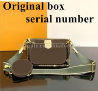 Femmes Sac Boîte Original Code Date Code Sac à main Multi Porte Embrayage Embrayage Messager Messenger Cross Cross Corps Numéro de série